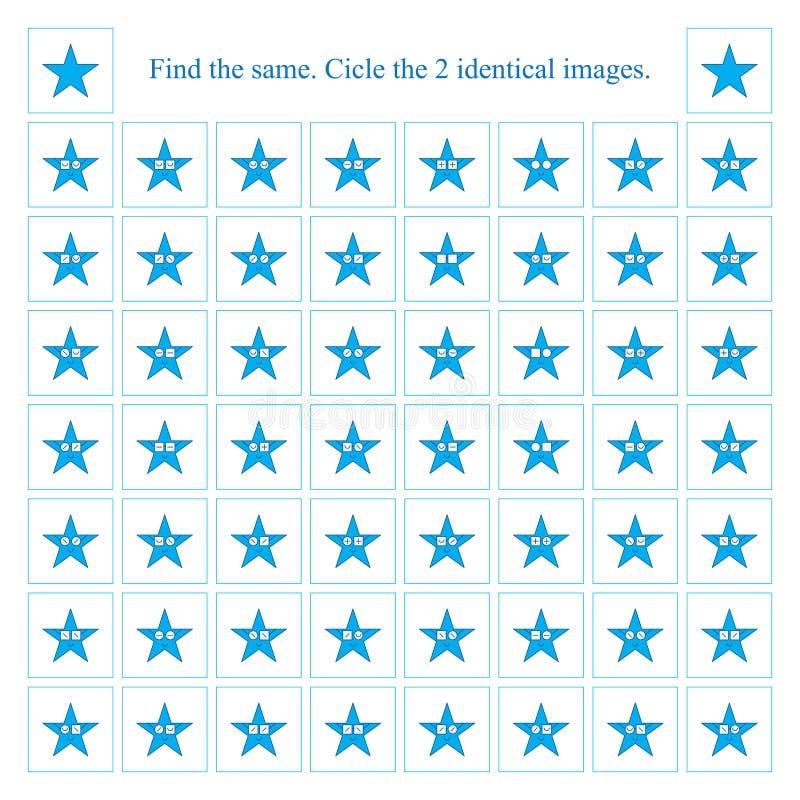 I vetri di usura della stella trovano lo stesso gioco illustrazione vettoriale