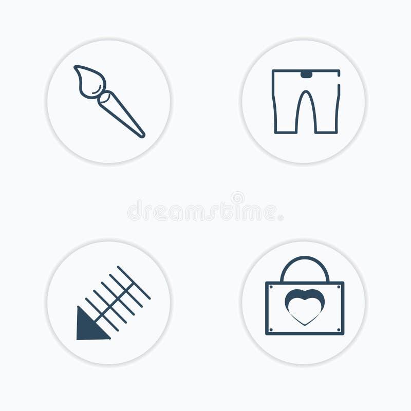 I vettori di bellezza hanno messo di 4 che la bellezza ha riempito le icone illustrazione vettoriale