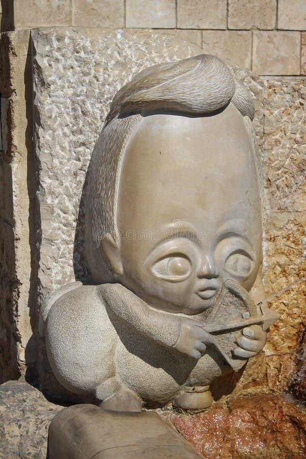 I vicoli dello zodiaco, segni astrologici della fontana, vecchia città di Giaffa, Tel Aviv fotografia stock