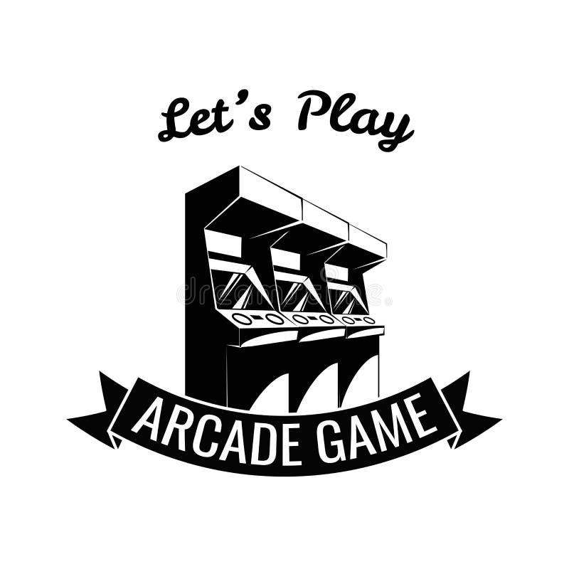 I videogiochi progettano sopra fondo blu, illustrazione di vettore illustrazione di stock