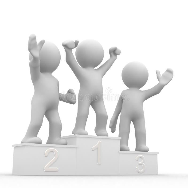 I vincitori illustrazione vettoriale