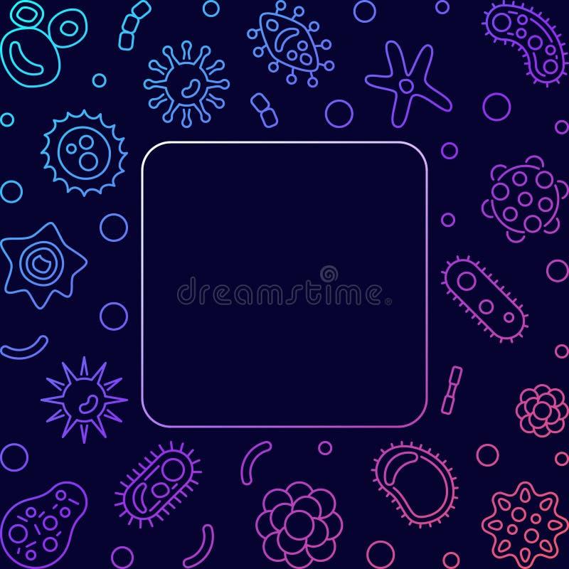 I virus quadrano la struttura colorata Illustrazione al tratto creativo di vettore royalty illustrazione gratis