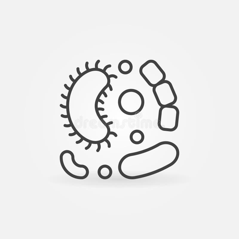 I virus vector la linea semplice icona illustrazione vettoriale