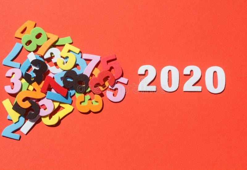 2020 i vita diagram royaltyfri foto