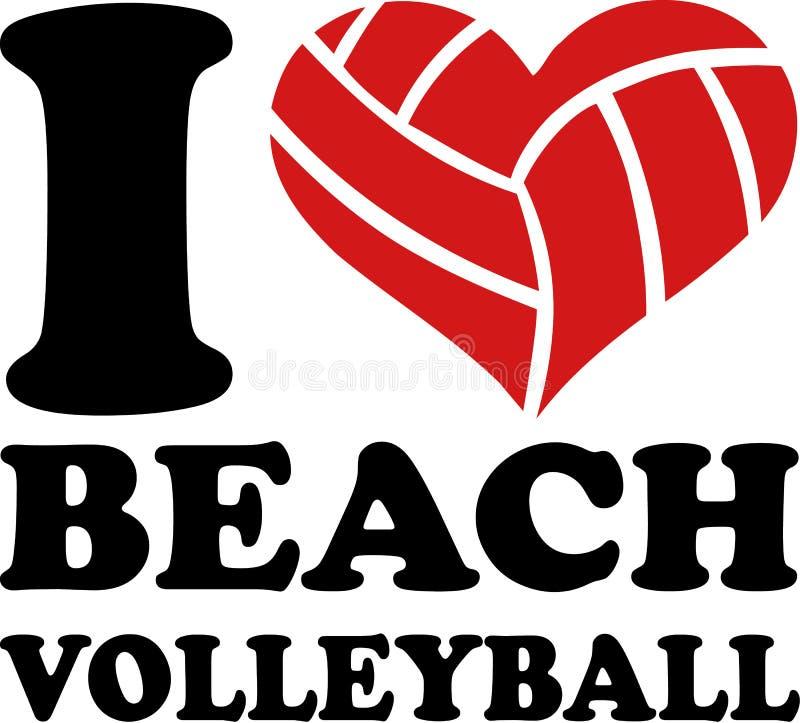 I volleyball de plage de coeur illustration libre de droits