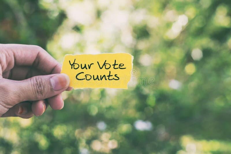 I vostri conteggi di voto fotografia stock