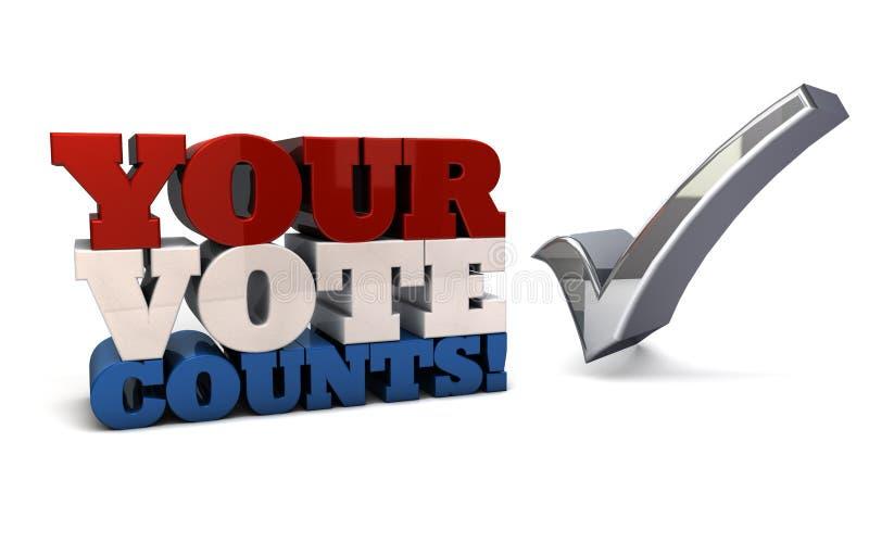 I vostri conteggi di voto royalty illustrazione gratis