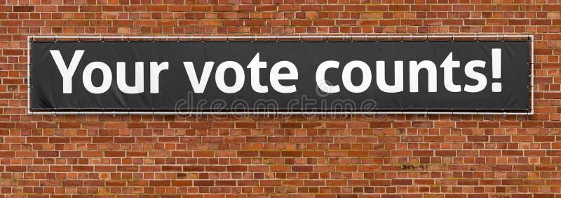 I vostri conteggi di voto immagine stock
