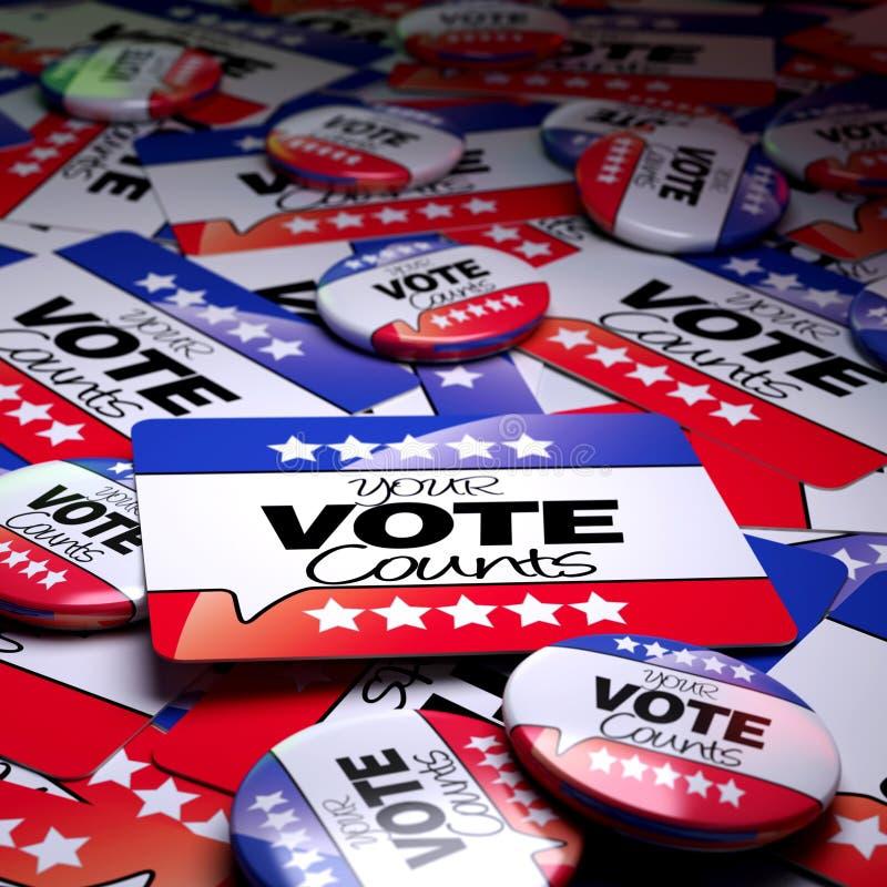 I vostri conteggi di voto illustrazione vettoriale