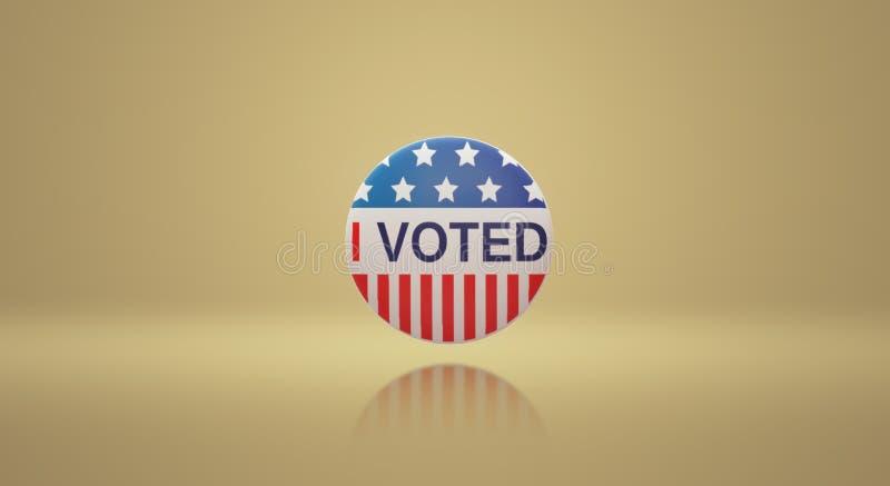 I voted America badge 3d rendering image vector illustration