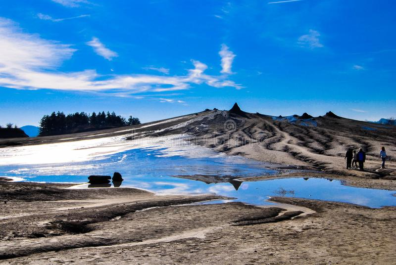 I vulcani del fango di Berca fotografia stock
