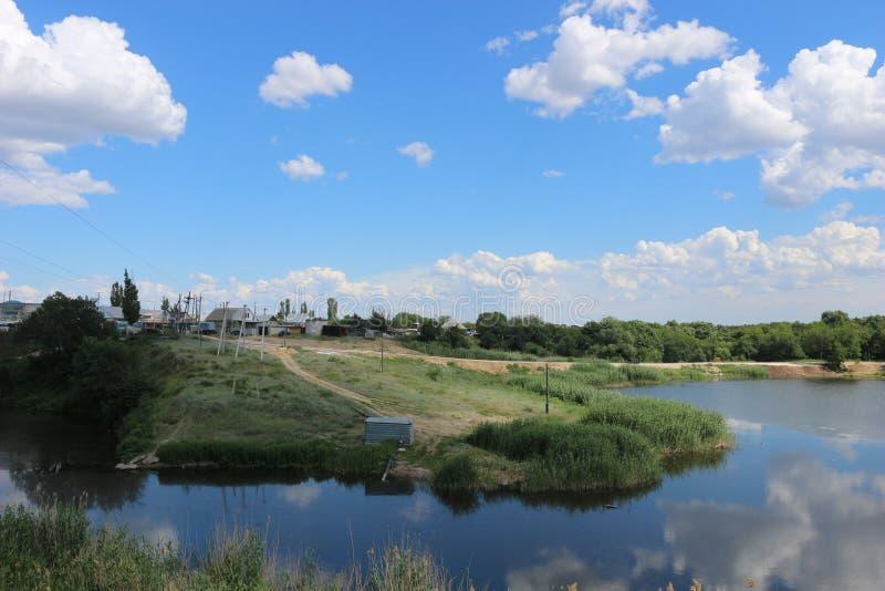 Beautiful summer lake at the noon royalty free stock image