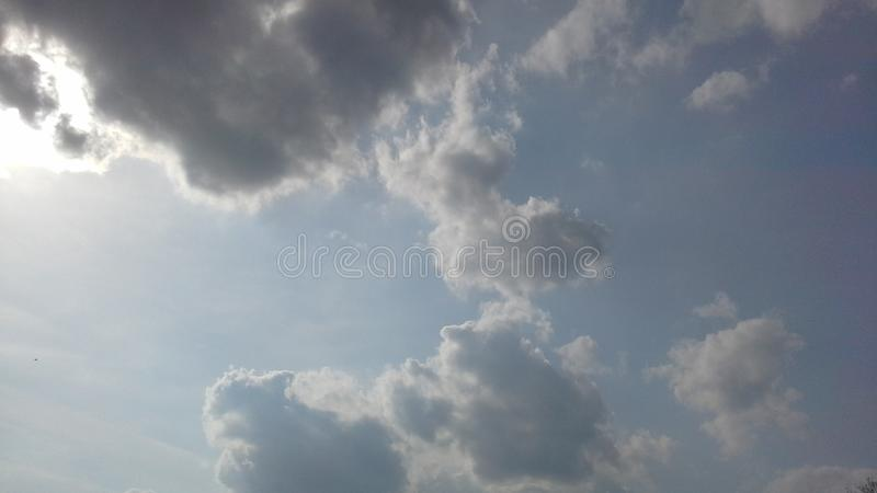 Sky, clouds, cloudy, Russia, spring, light blue, haze, light, balance blue royalty free stock photo