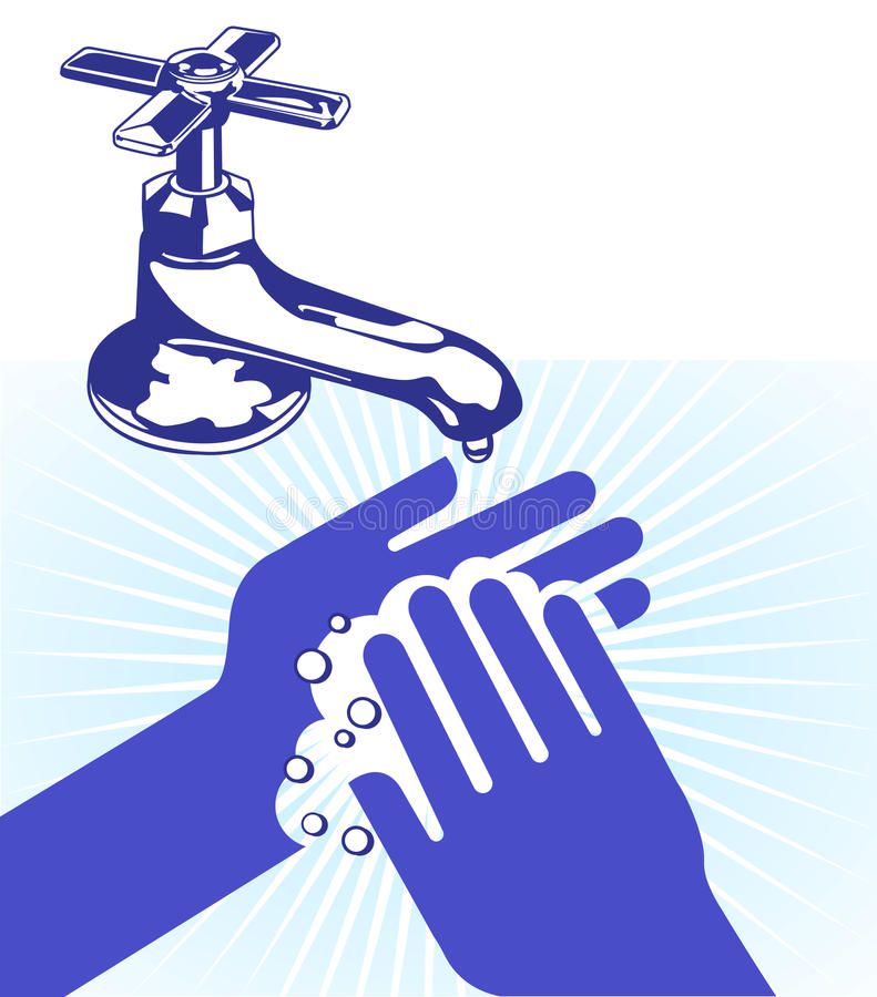 I wash my hands vector illustration