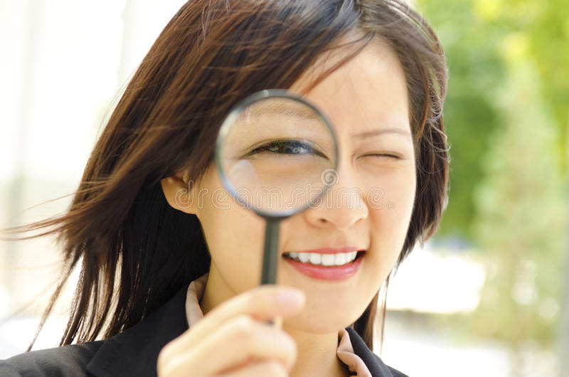 Download I am watching you stock image. Image of magnifying, adult - 24947705