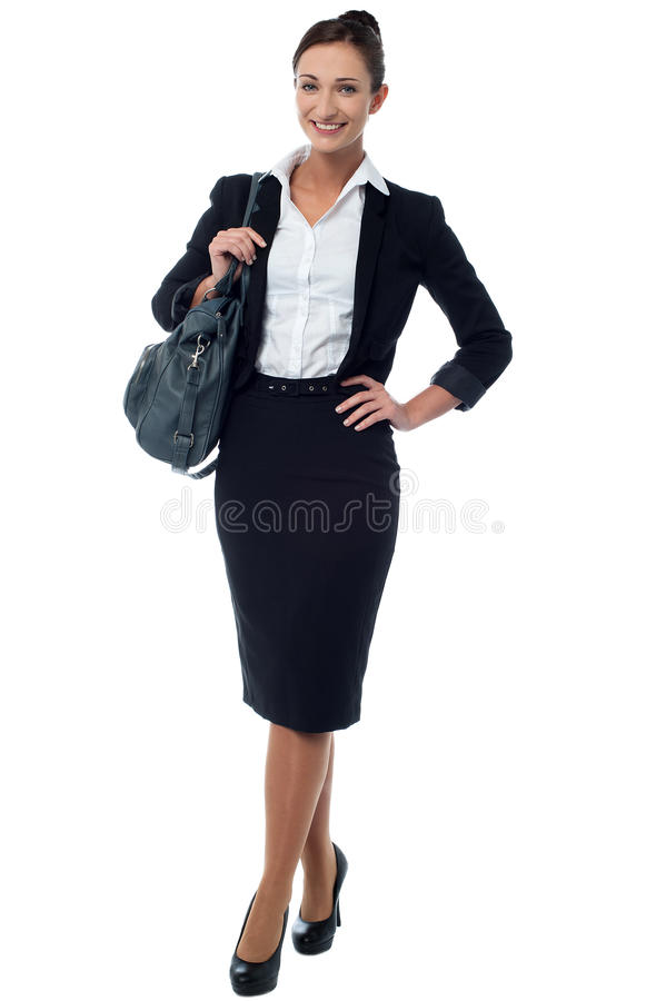 I am on the way to office. royalty free stock photography