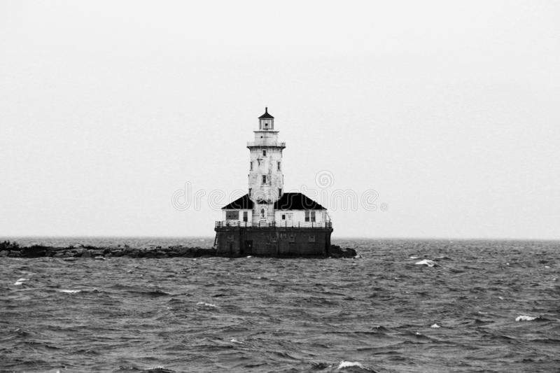 Chicago At Lake Michican stock photography