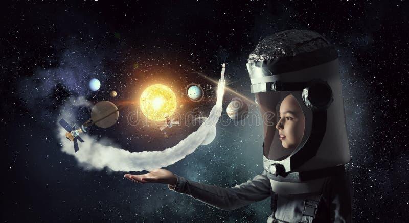 I will explore space . Mixed media stock photography