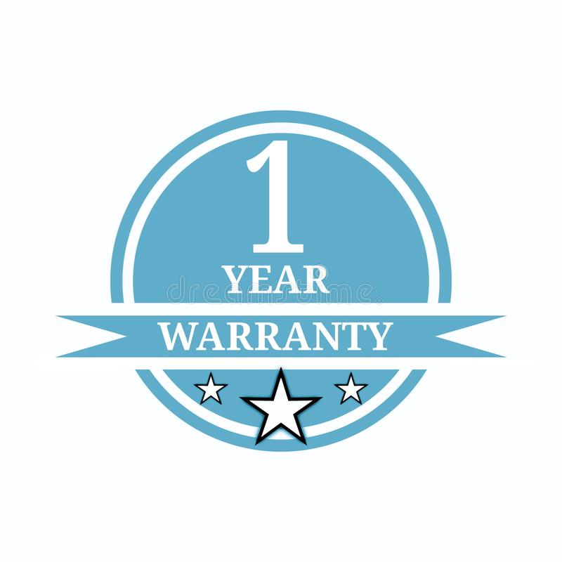 I year warranty stock photos