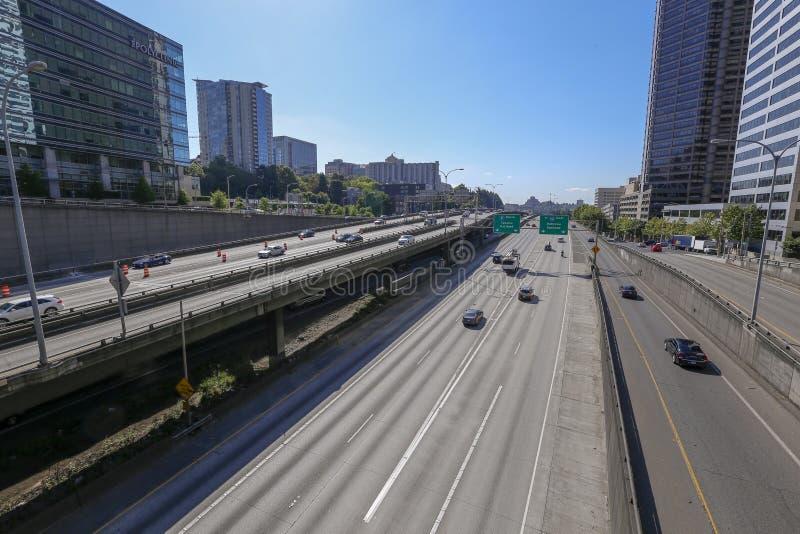 I5 Zuidensnelweg in Seattle royalty-vrije stock foto's