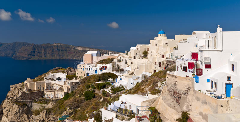 Download Ia, Santorini island stock image. Image of clouds, scenery - 39502267