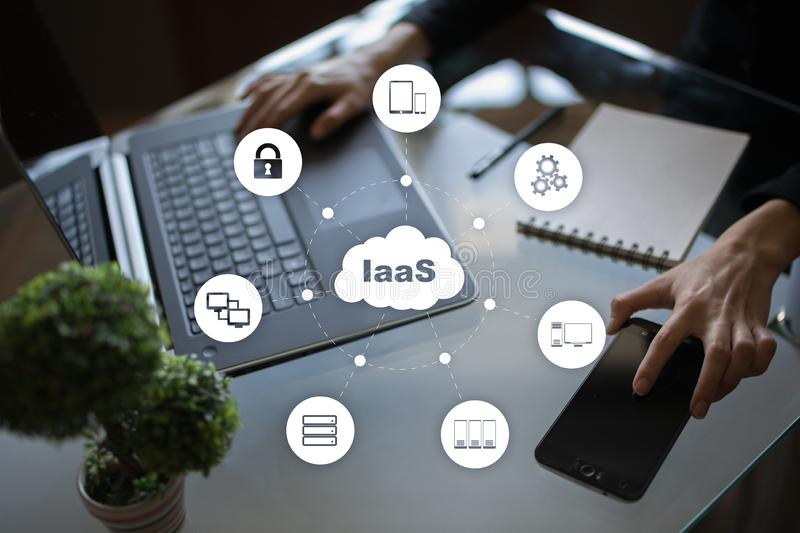 IaaS, Infrastructure as a Service. Internet and networking concept. IaaS, Infrastructure as a Service. Internet and networking concept royalty free stock image