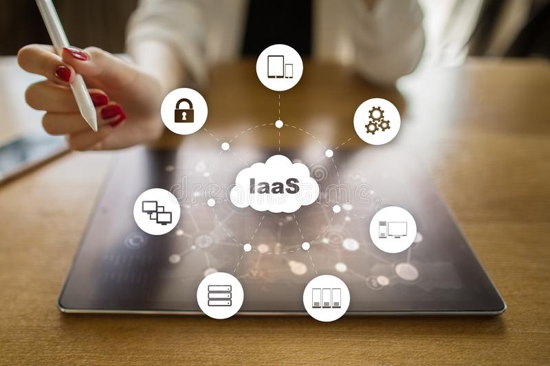 IaaS, Infrastructure as a Service. Internet and networking concept. IaaS, Infrastructure as a Service. Internet and networking concept royalty free stock photos