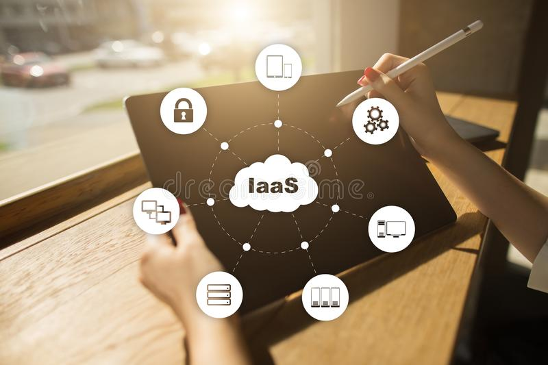 IaaS, Infrastructure as a Service. Internet and networking concept. IaaS, Infrastructure as a Service. Internet and networking concept stock photo