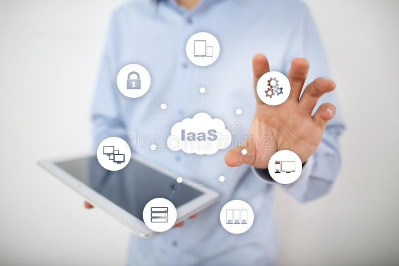 IaaS, Infrastructure as a Service. Internet and networking concept. IaaS, Infrastructure as a Service. Internet and networking concept stock images