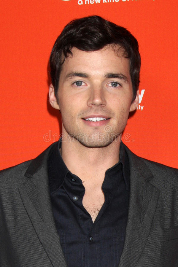 Ian Harding chega na costa oeste Upfronts da família do ABC fotografia de stock royalty free