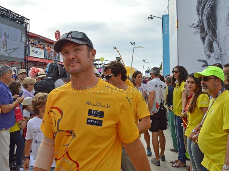 Ian piechura szyper Abu Dhabi oceanu Ścigać się zdjęcia royalty free