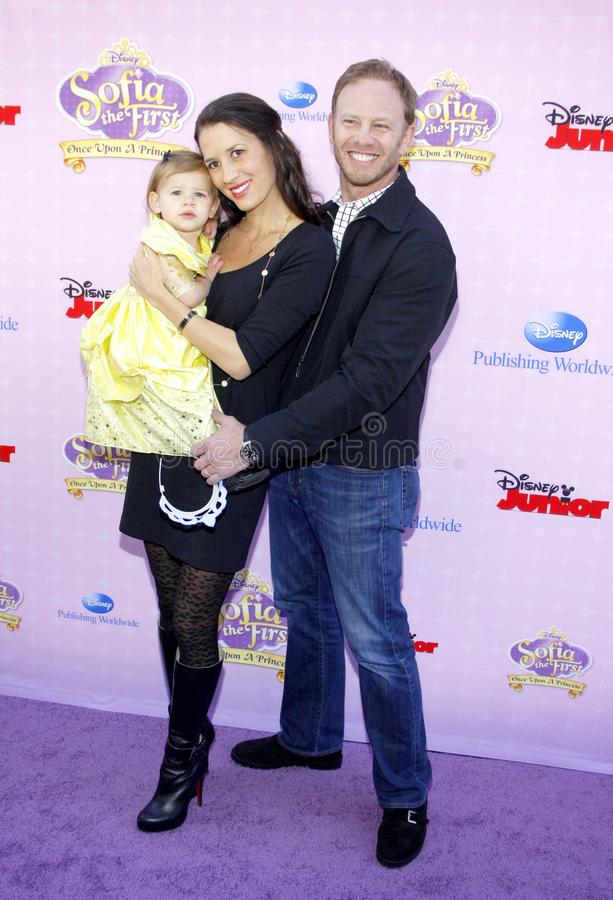 Ian Ziering. At the Los Angeles premiere of `Sofia the First: Once Upon a Princess` held at the Disney Studios in Los Angeles, United States on November 10 royalty free stock image