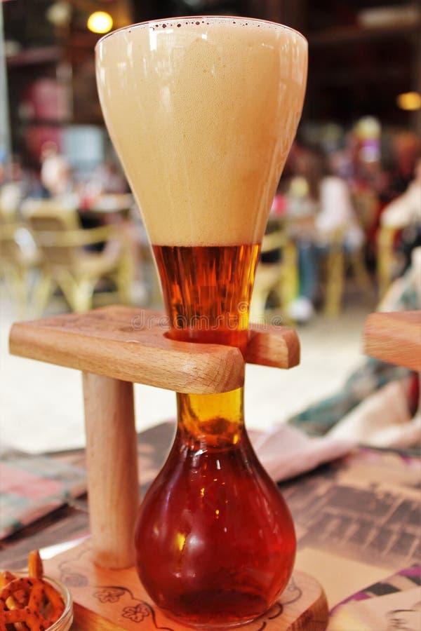 Iarda della birra del Belgio fotografia stock
