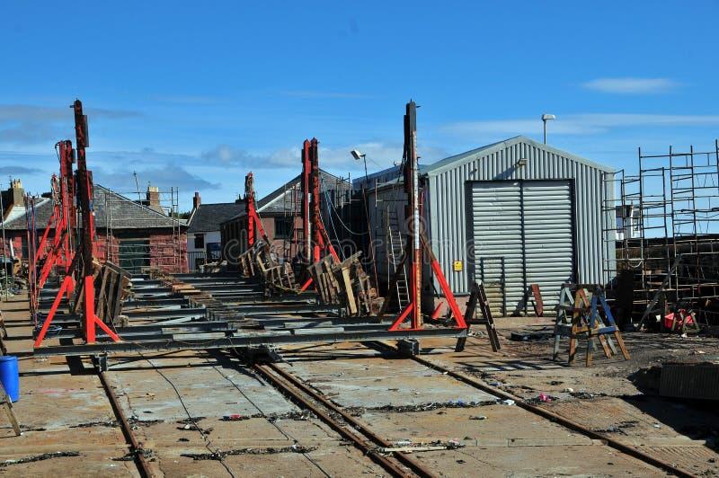 Iarda di costruzione della barca di Arbroath fotografia stock