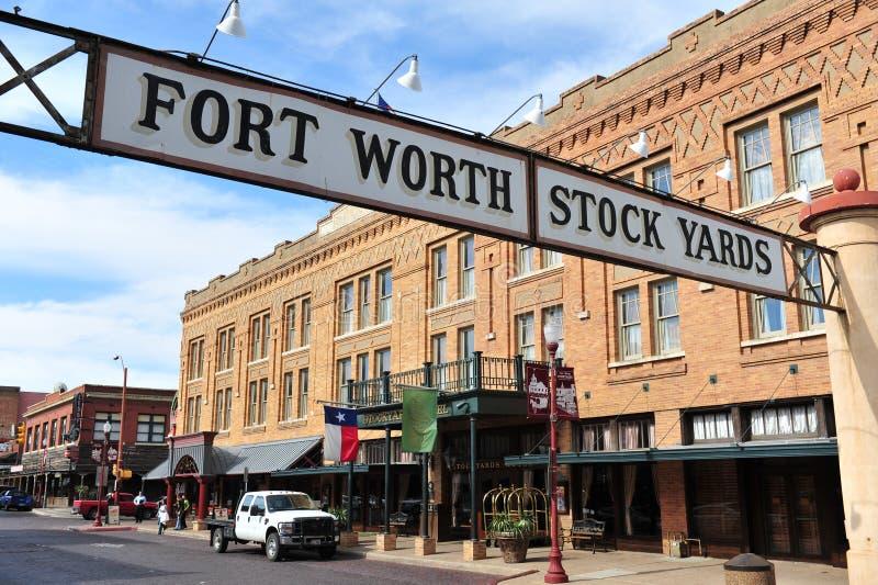 Iarde di riserva di Fort Worth fotografia stock