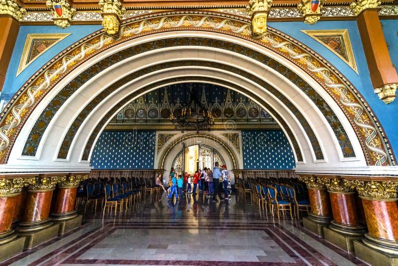 Iasi的里面文化宫殿 免版税库存照片