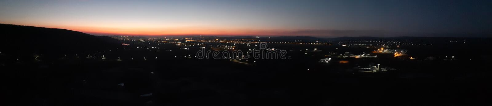 Iasi. City, night, panoramic, light stock images