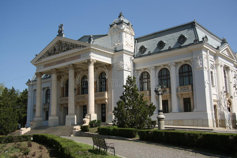 Iasi National Theatre (Romania). The XIX century Iasi National Theatre, Romania royalty free stock photo