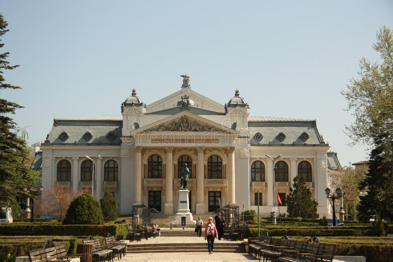 Iasi nationell teater (Rumänien) royaltyfria bilder