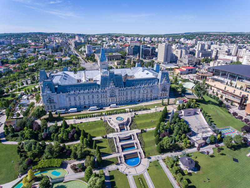 Iasi Romania. As seen from above aerial view stock image