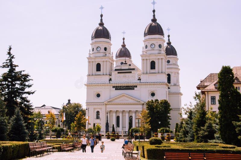 Metropolitan Cathedral in Iasi, Romania. IASI, ROMANIA - Aug 24, 2019: Metropolitan Cathedral the city of Iasi royalty free stock photo