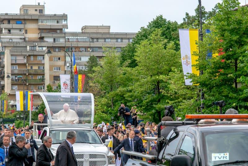 Iasi, Roumanie - mai 2019 : Pape Francis images stock