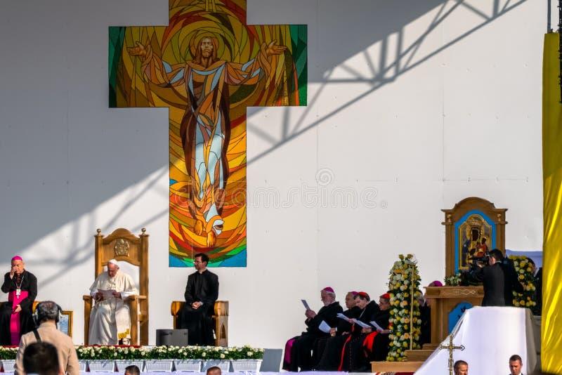 Iasi Rumunia, Maj, - 2019: Pope Francis zdjęcia stock