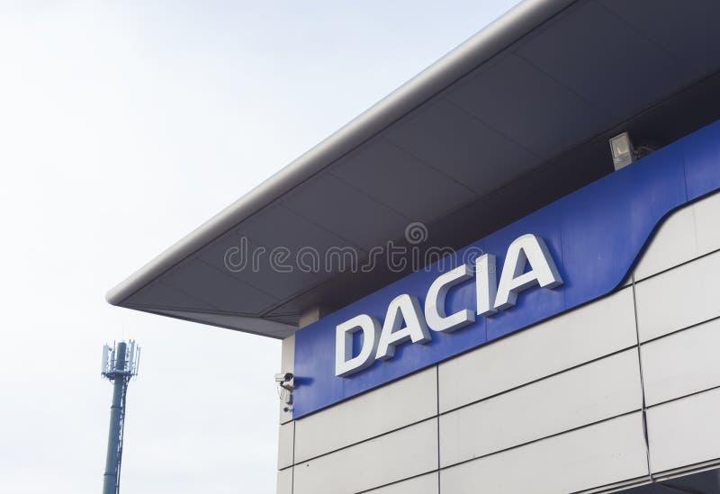 Iasi-Stadtausstellungsraum und Händler der Dacia-Autofirma lizenzfreies stockfoto