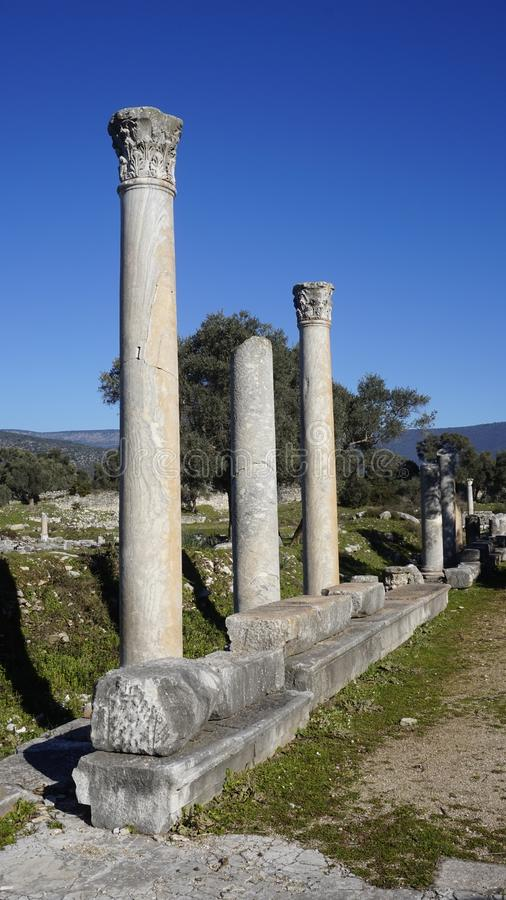 Iassos the ancient Greek city stock photo