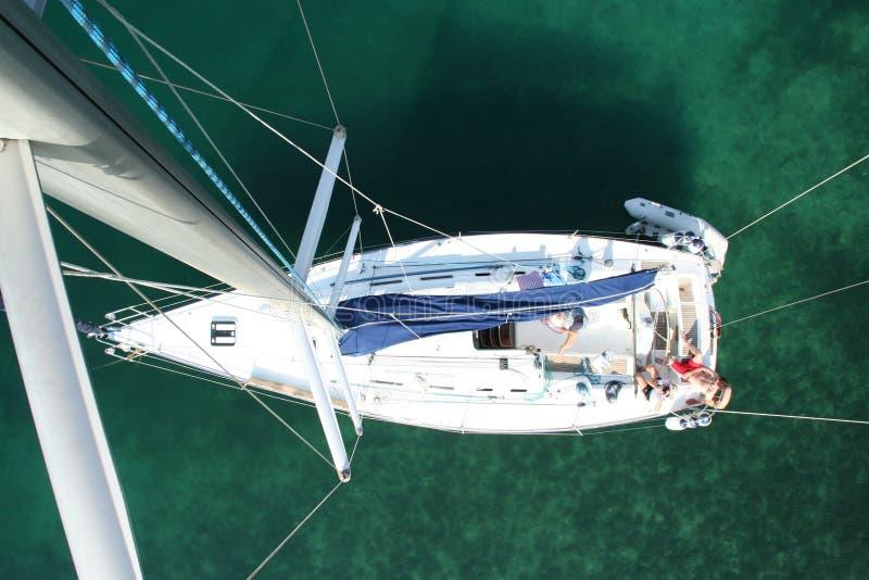 Iate da navigação - Croatia imagens de stock