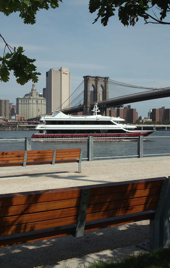 Iate de New York fotografia de stock royalty free