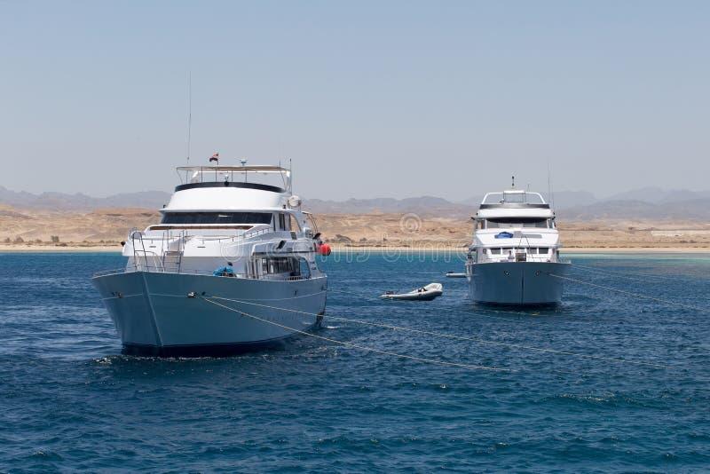 Iate de prazer no Mar Vermelho fotos de stock royalty free