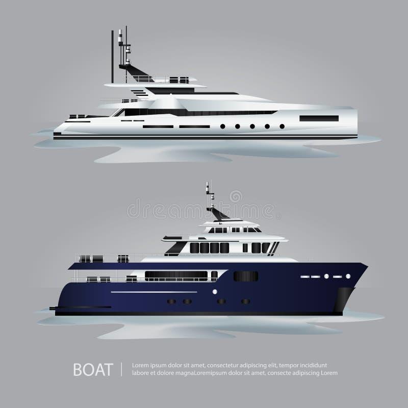 Iate do turista do barco do transporte a viajar ilustração royalty free