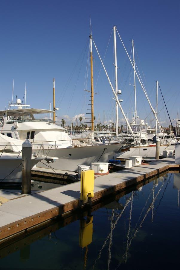 Iate em Redondo Beach fotos de stock royalty free
